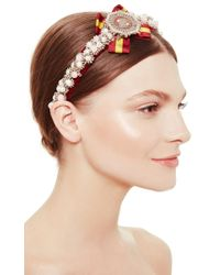 Masterpeace | White Red Badge Of Honor Headpiece | Lyst