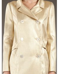 Dior | Metallic Golden Trenchcoat | Lyst