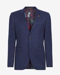Ted Baker - Blue Deluxe Cashmere-blend Jacket for Men - Lyst