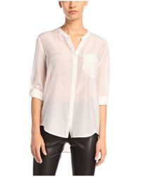 BOSS Orange - White Blouse 'efelize_4' In Cotton - Lyst