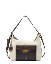 Fossil | Natural 'vickery' Leather Shoulder Bag | Lyst