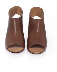 H by Hudson - Brown Leather Iris Sandals - Lyst