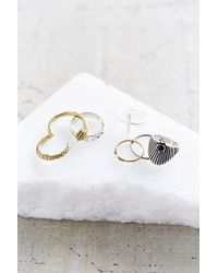 Urban Outfitters | Metallic Rings Of Euphrates Ring Set | Lyst