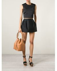 Saint Laurent | Brown Emmanuelle Medium Calf-Leather Bucket Bag | Lyst