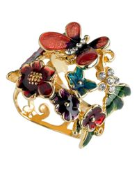 Guess - Multicolor Flower And Butterfly - Lyst