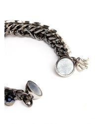 Assad Mounser - Metallic Rhinestone Vine Spike Bracelet - Lyst