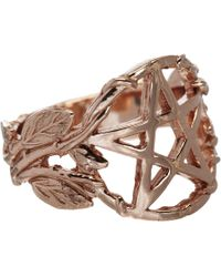 Pamela Love | Metallic Rose Gold-Plate Pentagram Ring | Lyst