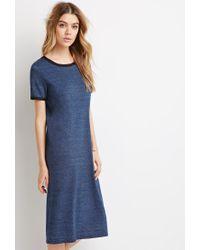 Forever 21 | Blue Ringer T-shirt Dress | Lyst