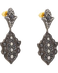 Sevan Biçakci - Black Diamond & White Diamond Floral Drop Earrings - Lyst