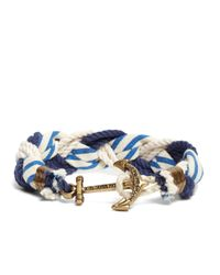 Brooks Brothers | Blue Kiel James Patrick Stripe Braided Bracelet for Men | Lyst