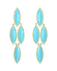 Kendra Scott | Blue Arminta Turquoise Marquise Earrings | Lyst
