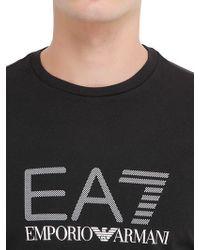 EA7 - Black Train Graph Cotton Long Sleeve T-shirt for Men - Lyst