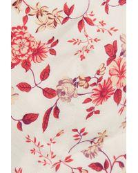 Etro - White Cutout Floral-print Cotton Bra Top - Lyst