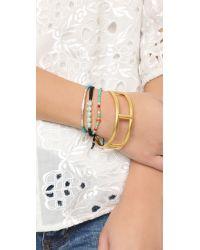 Madewell - Metallic Open Gate Cuff Bracelet - Lyst