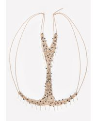 Bebe | Metallic Bead & Fringe Body Chain | Lyst