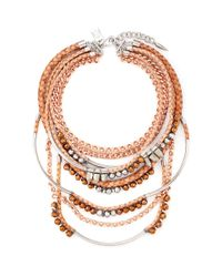 Assad Mounser | Metallic 'eno' Multi Tier Collar Necklace | Lyst
