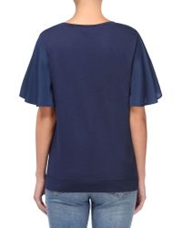 Love Moschino - Blue Short Sleeve T-shirts - Lyst