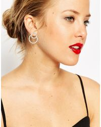 ASOS | Metallic Limited Edition Occasion Set Stone Circle Swing Earrings | Lyst