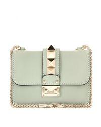 Valentino - Blue Lock Mini Leather Shoulder Bag - Lyst