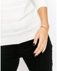 Ted Baker - Metallic Crista Sleek Bow Cord Bracelet - Lyst