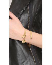 Amber Sceats - Metallic Knot Me Twice Bracelet - Lyst