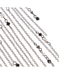 River Island | Metallic Silver Tone Draped Long Chain Necklace | Lyst