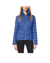 Michael Kors | Blue Quilted Nylon Jacket | Lyst