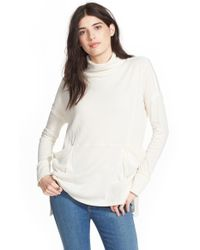 Free People | Blue 'long Flight' Pullover | Lyst