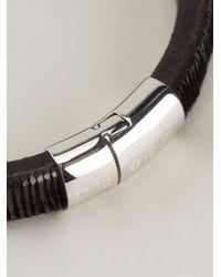 Tateossian   Black Textured Bracelet for Men   Lyst