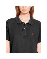 Polo Ralph Lauren | Black Boyfriend Polo Shirt | Lyst