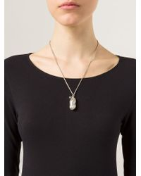 Vivienne Westwood - Metallic 'ryan' Peanut Locket Pendant Necklace - Lyst