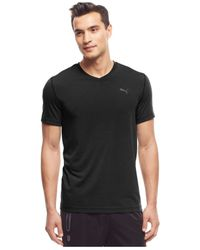 PUMA | Black Men's Essential V-neck T-shirt for Men | Lyst