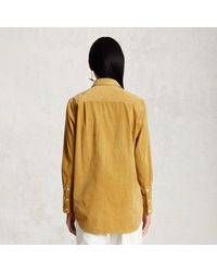 Trademark | Yellow Corduroy Fringe Shirt | Lyst