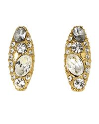 Rachel Zoe - Metallic Gold-Plated Accented Earrings - Lyst