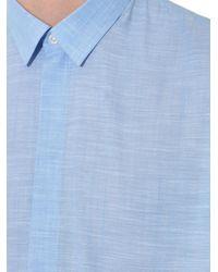 JOSEPH - Blue Weston Melange Cotton Shirt for Men - Lyst
