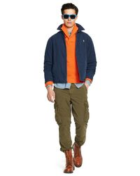 Polo Ralph Lauren | Blue Poplin Windbreaker for Men | Lyst