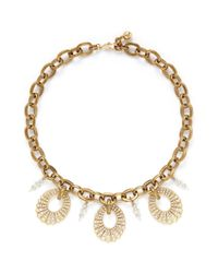 Lulu Frost | Metallic Oval Lumiere Necklace | Lyst