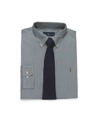Polo Ralph Lauren - Green Striped Broadcloth Dress Shirt for Men - Lyst