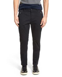 French Connection - Black 'rifle Bondage' Tailored Pants for Men - Lyst