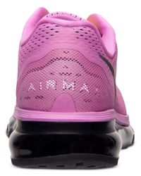 Nike - Purple Women'S Air Max+ 2014 Running Sneakers From Finish Line - Lyst