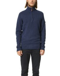 Ben Sherman | Blue Half Zip Sweater for Men | Lyst