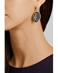 Kimberly Mcdonald | Gray 18-Karat Gold Diamond And Geode Earrings | Lyst
