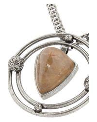 Saint Laurent - Metallic Silver Quartz Necklace - Lyst