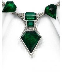Alexis Bittar - Green Crystal Deco Petal Bib Necklace - Lyst