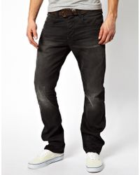 G-Star RAW - Black Jeans Straight Brenner for Men - Lyst