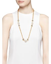 Kenneth Jay Lane | Metallic Thick Chain Embellished Necklace | Lyst