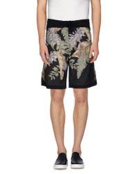 Dries Van Noten - Black Bermuda Shorts for Men - Lyst