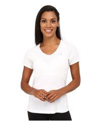 New Balance   White Tournament Short Sleeve Burnout Top   Lyst