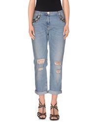 Pinko | Blue Denim Trousers | Lyst