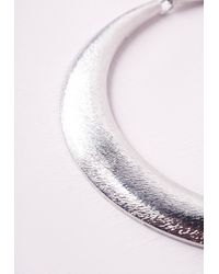 Missguided | Metallic Silver Bib Necklace | Lyst
